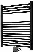 Badheizkörper Bad Heizung Handtuchtrockner Mittelanschluss Komplettset Eck (1160 x 500, schwarz)