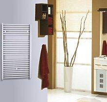 Badheizkörper Design Berlin 2, HxB: 113 x 60 cm, 791 Watt, weiß (Marke: Szagato) Made in Germany / Top-verarbeiteter Bad und Wohnraum-Heizkörper (Seitenanschluss)