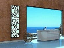Badheizkörper Design Kreta 3, HxB: 180 x 47 cm, 1118 Watt, weiß / schwarz (matt) (Marke: Szagato) Made in Germany / moderner Bad und Wohnraum-Heizkörper (Mittelanschluss)