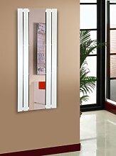 Badheizkörper Design Shanghai 2 mit Spiegel, HxB: 120 x 55 cm, 581 Watt, weiß (Marke: Szagato) Made in Germany / Top-verarbeiteter Bad und Wohnraum-Heizkörper (Mittelanschluss)
