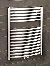 Badheizkörper Mittelanschluss Florenz 70x50 cm Design-Heizkörper Bad gebogen weiß vom Renovierungsprofi, 1 Stück, 4056397001898