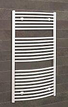 Badheizkörper Seitenanschluss unten Florenz 113x60 cm Design-Heizkörper Bad gebogen weiß vom Renovierungsprofi, 1 Stück, 4056397001850