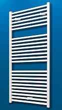 Badheizkörper Seitenanschluss unten Toskana 113x60 cm Design-Heizkörper Bad weiß vom Renovierungsprofi, 1 Stück, 4056397001706