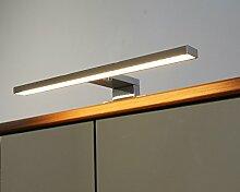 Badleuchte Spiegellampe LED 230Volt / AN2030WW / Chrom warm weiß Schranklampe Aufbauleuchte Spiegelleuchte Möbelbeleuchtung Vitrinenbeleuchtung Schrankbeleuchtung