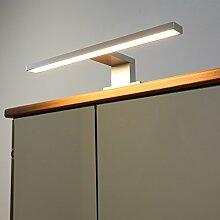 Badleuchte Spiegellampe LED 230Volt / AN2035WW / Alu warm weiß Schranklampe Aufbauleuchte Spiegelleuchte Möbelbeleuchtung Vitrinenbeleuchtung Schrankbeleuchtung