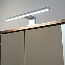 Badleuchte Spiegellampe LED 230Volt / AN2036KW / Alu kalt weiß Schranklampe Aufbauleuchte Spiegelleuchte Möbelbeleuchtung Vitrinenbeleuchtung Schrankbeleuchtung