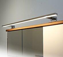 Badleuchte Spiegellampe LED 230Volt / AN2050WW / Chrom warm weiß Schranklampe Aufbauleuchte Spiegelleuchte Möbelbeleuchtung Vitrinenbeleuchtung Schrankbeleuchtung