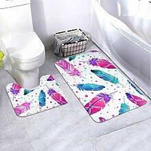 Badmatten-Set Gemaltes 2-teiliges Teppich-Set mit