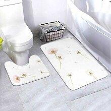 Badmatten-Set Muster Feder 2-teiliges Teppich-Set