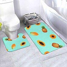 Badmatten-Set Papaya Pine 2-teiliges Teppich-Set