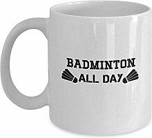 Badminton All Day Coffee Mug Cup 11oz