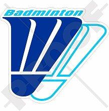BADMINTON Sport, Schläger Sport 120mm Auto & Motorrad Aufkleber, Vinyl Sticker