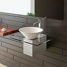 Badmöbel aus Glas / Waschtische für Ihr exklusives Badezimmer / Bad / Designer Waschtisch Serie 60 / Keramik - Klarglas Waschplatz
