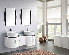 Badmöbel Badezimmermöbel Badezimmer Waschbecken Waschtisch Schrank 138 cm Wasserhähne enthalten 138 cm mod. TIGER