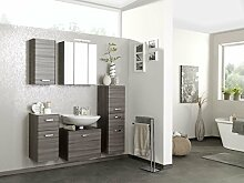 Badmöbel, Badezimmermöbel, Set, Badeinrichtung, Badausstattung, Badezimmereinrichtung, Komplettset, 5-teilig, Eiche dunkel Nachbildung