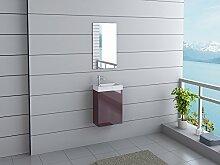 Badmöbel California Gäste WC Waschtisch Set 11 moderne Farben