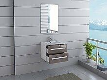 Badmöbel Florida Gäste WC Waschtisch Set mit 2