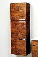 Badmöbel Hochschrank Midischrank Hängeschrank Badezimmer Antik Wood vormontier