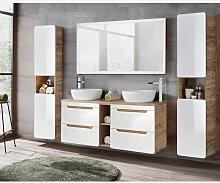 Badmöbel Komplett Set mit 140cm Waschtisch