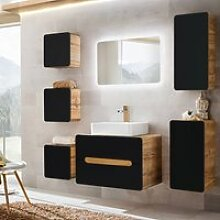 Badmöbel Komplett Set mit Keramik-Waschtisch &