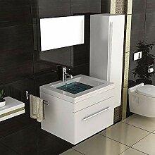 Badmöbel Komplett-Set mit Waschbecken aus