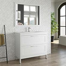 Badmöbel Landhaus Set Waschtisch mit