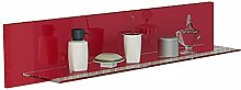 Badmöbel Regal Wandboard in rot hochglanz