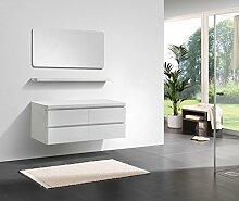 Badmöbel Serie SWING 1400 Weiß Hochglanz,