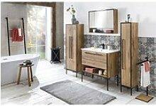 Badmöbel Set 4-teilig Eiche-Landhaus Nb.,