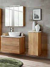 Badmöbel Set Capri-B Eiche 80 cm mit Waschbecken