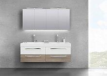 Badmöbel Set Doppelwaschbecken 160 cm mit