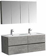 Badmöbel-Set EDGE 1300 - Farbe:Beton,