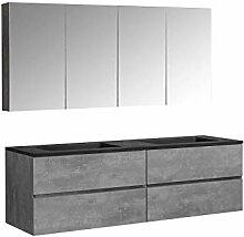 Badmöbel-Set EDGE 1700 - Farbe wählbar - Farbe