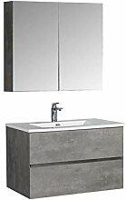 Badmöbel-Set EDGE 850 - Farbe:Beton,