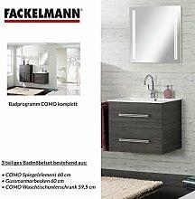 Badmöbel Set Fackelmann COMO Waschbeckenunterschrank / Waschbecken / Spiegel