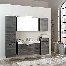 Badmöbel Set in Eiche Grau modern (fünfteilig)