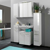 Badmöbel Set in Weiß Hochglanz mit Spiegelschrank (5-teilig)