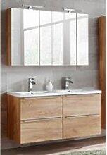 Badmöbel Set mit 2 Spiegelschränken und
