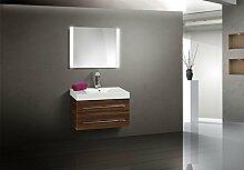 Badmöbel Set mit 90 cm Waschtisch und Lichtspiegel