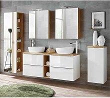 Badmöbel Set mit Doppel-Waschtisch inkl. 2