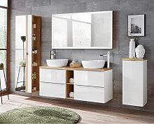 Badmöbel Set mit Doppel-Waschtisch und 140cm