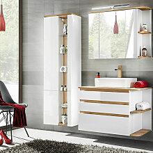 Badmöbel-Set mit Keramik-Waschtisch CAMPOS-56,