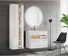 Badmöbel Set mit Keramik-Waschtisch inkl LED
