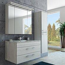 Badmöbel Set mit Waschbecken+Unterschrank,