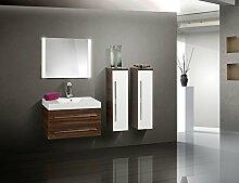 Badmöbel Set mit Waschtisch und Lichtspiegel 90 cm