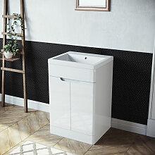 Badmöbel Set Waschbecken mit Unterschrank 2 in 1