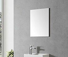 Badmöbel Spiegel VISITO 40 (schwarzer Rahmen)