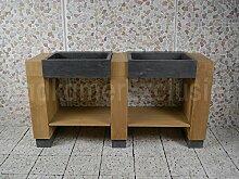 Badmöbel Teakholz Galunggung Double Bluestone 168x50x90 cm.