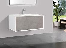 Badmöbel Unterschrank inkl. Waschtisch INDOLEO 75