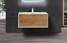 Badmöbel Unterschrank inkl. Waschtisch INDOLEO 90